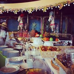 Picturesque buffet breakfast in a Carousel setting, Nice, France Nicoise, Nice France, Breakfast Buffet, Sabo Skirt, Carousel, Table Decorations, City, Breakfast Buffet Table, Carousels