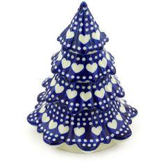Polish Pottery 7-inch Christmas Tree | Boleslawiec Stoneware | Polmedia H3728G | Polmedia