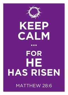 He  has risen indeed...