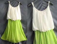 Lime dress. SO cute!