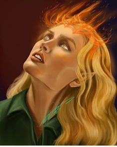 """""""Fireheart"""" Aelin Ashryver Galathynius, Heir of Fire! Really enjoyed doing this portrait of everyone's favorite fire-breathing bitch-Queen 👸 Throne Of Glass Fanart, Throne Of Glass Books, Throne Of Glass Series, Aelin Ashryver Galathynius, Celaena Sardothien, Sara J Maas, Crown Of Midnight, Empire Of Storms, Sarah J Maas Books"""