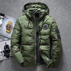 YYG Men Plus Size Winter Warm Multi-Pockets Parka Faux Fur Hooded Military Quilted Jacket Coat Outerwear