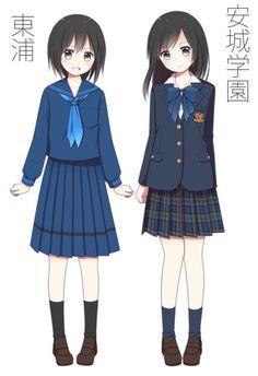 埋め込み Anime Uniform, Anime Art Girl, Manga Art, Funny Baby Gif, Japanese School Uniform, Cute Animal Videos, Female Anime, Animal Sketches, Anime Outfits