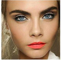 Turquoise eyeliner :)