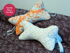 Sew4Home shows how to make this neck pillow that's perfect for reading in bed or…