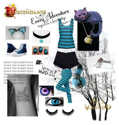 """Chesire Cat"" by jinxx-the-killerr ❤ liked on Polyvore featuring Burton, Disney and Topshop"