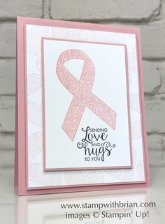 Ribbon of Courage, Stampin\' Up!, Brian King, breast cancer card