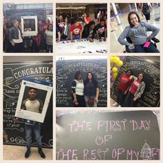 College Signing Day, Class Of 2016, The One, Congratulations, Polaroid Film