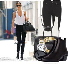 """Miranda Kerr Street Chic"" by fashion-guru678 on Polyvore"