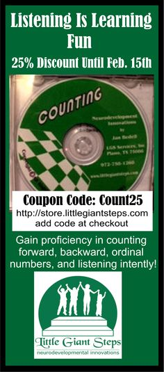 Counting CD 25% Discount | Little Giant Steps