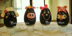 pasticciare in allegria: Uova di Pasqua decorate animaletti...