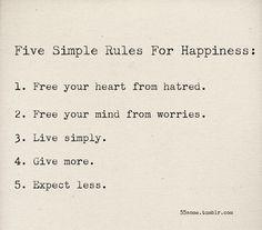 If only people actually went by these rules, the world might be at peace!