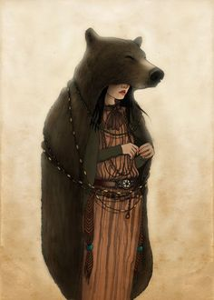 bear woman: health, psychic, fertility, unity, love, kinship, nature, rebirth, energy - Pinned by The Mystic's Emporium on Etsy