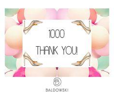 Jest Was juz 1000! Dziękujemy! 🌸💕🎀 #baldowski #baldowskiwb #polishbrand #shoes #shoeaddict #shoelovers #thankyou #followers #celebrate #celebratingtime #letscelebrate #party #happymood #mondayvibes #photooftheday #instagood