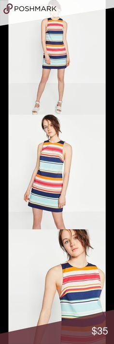 Zara striped dress 49% cotton, 48% polyester, 3% Elastane Zara Dresses Mini