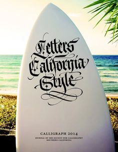 """apeninja: """"LETTERS CALIFORNIA STYLE - Lettering for """"Calligraph calligraphy magazine from southern California. (by Luca Barcellona - Calligraphy & Lettering Arts) """" Calligraphy Words, Beautiful Calligraphy, Script Lettering, Penmanship, Lettering Design, Brush Lettering, Cool Typography, Typography Letters, Letras Tattoo"""