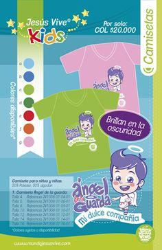 ¿Ya conoces las camisetas de Jesús Vive® para niños? Y lo mejor es que brillan en la oscuridad