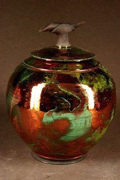 Raku pottery - wheel thrown - stoneware by Ron Aubuchon.