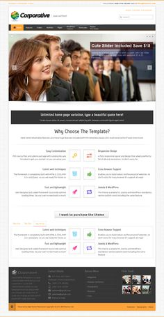 Corporative, Premium WordPress Minimalistic Business Theme