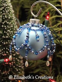 Beaded Glass Ornament Cover Beaded Ornament Cover Holiday