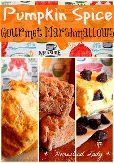 Gourmet Marshmallows l Pumpkin and Spice l Homestead Lady l #pumpkin
