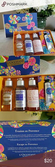 L'Occitane Holiday Wish List Collection Great gift!!! Amande Shower Oil, Lavande Shower Gel, Cherry Blossom Bath & Shower Gel, Creme Mains Dry Skin Hand Cream Other