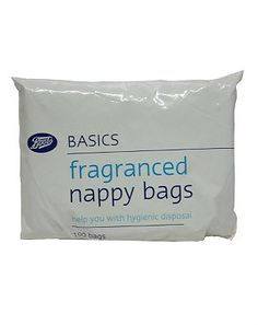 Boots Baby Boots Fragranced Nappy Bags - 1 x 100 Pack 0 Advantage card points. Boots Fragranced Nappy Bags are a convenient and hygenic way to dispose of nappies and trainer pants, or for transporting soiled terry nappies. FREE Delivery on orders over 45 http://www.MightGet.com/february-2017-1/boots-baby-boots-fragranced-nappy-bags--1-x-100-pack.asp