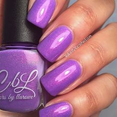 Girls Shift Faster from the GO Faster collection. A lilac crelly with pink to gold to red shimmer. Launching for pre-order July 15 on llarowe.com. Swatch by @valiantlyvarnished.  #colorsbyllarowe #cbl #llarowe #nail #polish #notd #nailstagram #nailsofinstagram #indie #nailaddict #mani #polish #nailswatch #indiepolish #cblgofastercollection #lukac #crelly #pink #gold #red #shimmer #cblgirlsshiftfaster