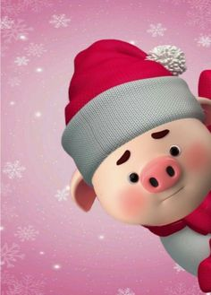 Pig Wallpaper, Wallpaper Iphone Cute, This Little Piggy, Little Pigs, Happy Birthday Pig, Cute Rabbit Images, Minnie Mouse Stickers, Merry Christmas Wallpaper, Cute Piglets