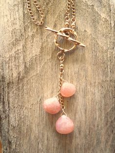 Rose quartz gold filled faceted teardrop pendant dainty thin chain baby infant whimsical new age gemstone birthstone boho minimal necklace
