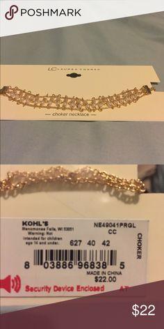 NWT LC LAUREN CONRAD CHOKER New tri-chain choker necklace LC Lauren Conrad Jewelry Necklaces