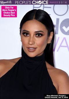 Shay Mitchell Peoples Choice Awards Hair Makeup 2016