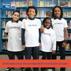 A child who can't read on grade level by the third grade is four times less likely to graduate than a child who can. That's why United Way of Northeast Louisiana is currently recruiting volunteers for READ.LEARN.SUCCEED., a community reading initiative focused on helping area 3rd graders read on grade level, setting them on a good path for a better quality of life. To volunteer, dial 2-1-1 on any landline or mobile phone or submit an application here: statictab.com/9tdkk8y #LIVEUNITED.