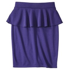 Mossimo® Women's Refined Peplum Pencil Skirt - Assorted Colors