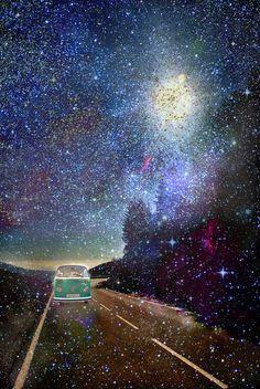 Stars Wander wolkswagen. Dreams. Green by Guido Montañés