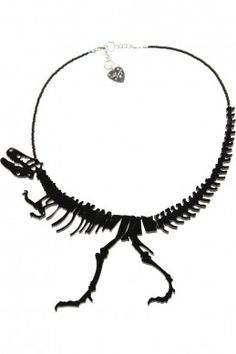 Dinosaur Necklace!  Love this.  Reminds me of my first born who lived and breathed dinosaurs for many years.