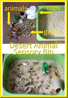 Allow your preschoolers to explore the treasures in the sand! This sensory bin will let them use more than their sense of sight and make discoveries. We recommend using Epsom salt or clean play sand.
