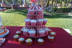 Popcorn cupcakes made by Melanie Harris