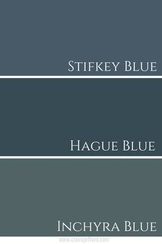 In love with Hague Blue by Farrow & Ball? Get inspiration for how to use this colour in a colour palette & see the complete colour review at ClaireJefford.com!