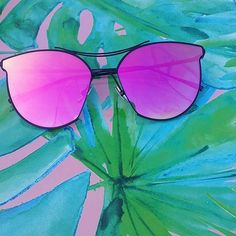 CHONI X PINK 'OhYay' for 10% off online www.ohlay.com.au 💕  #sunglasses #pink #sunnies #shades #summer #green #hotpink #fashion #style #trend