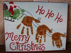 santas sleigh and reindeer!