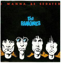 The Ramones, I Wanna Be Sedated, 7″ single, 1980. Unknown artist. RSO Records/UK. Via flickr