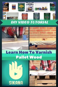 Found pallets? Check. Dismantled them without injury to yourself or the wood? Of course, because you've checked out our Dismantling Pallets page. You've built an impressive pallet project that you and your family adore. What's next? PROTECTING your hard work, of course! That... #DiyVideoTutorial, #Varnish