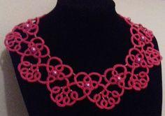 Needle Tatting, Crochet Necklace, Jewelry Making, Beautiful, Fashion, Moda, Fashion Styles, Jewellery Making, Make Jewelry