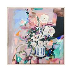 This extra special piece is part of our Annie Everingham exhibition! Layers of rich texture, hyper colours and feminine florals - Annie Everingham's work is dyn Abstract Art For Sale, Art For Sale Online, Australian Artists, Abstract Shapes, Affordable Art, Art Inspo, A Team, Artsy, Canvas