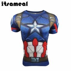 Captain America Civil War Tee 3D Printed T-shirts Men Short Sleeve Fitness Clothing Male
