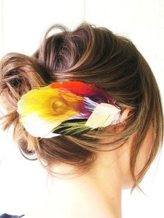 Feather Barrette