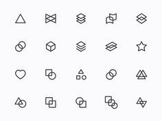 Myicons — Geometric, Abstract line icons designed by Myicons✨. Abstract Logo, Abstract Lines, Line Design, Icon Design, Web Design, Vivid Seats, Skin Line, Color Lines
