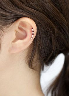 Cartilage earring, helix piercing curved cartilage piercing 16g helix earring, CZ bar earrings, bar cartilage stud AU$15.89+
