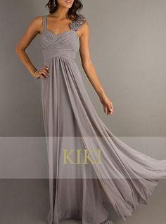 Grey long prom/party/evening/bridesmaid/dress by KikiStory on Etsy, $95.00 @Katherine Adams Adams Becerra ?